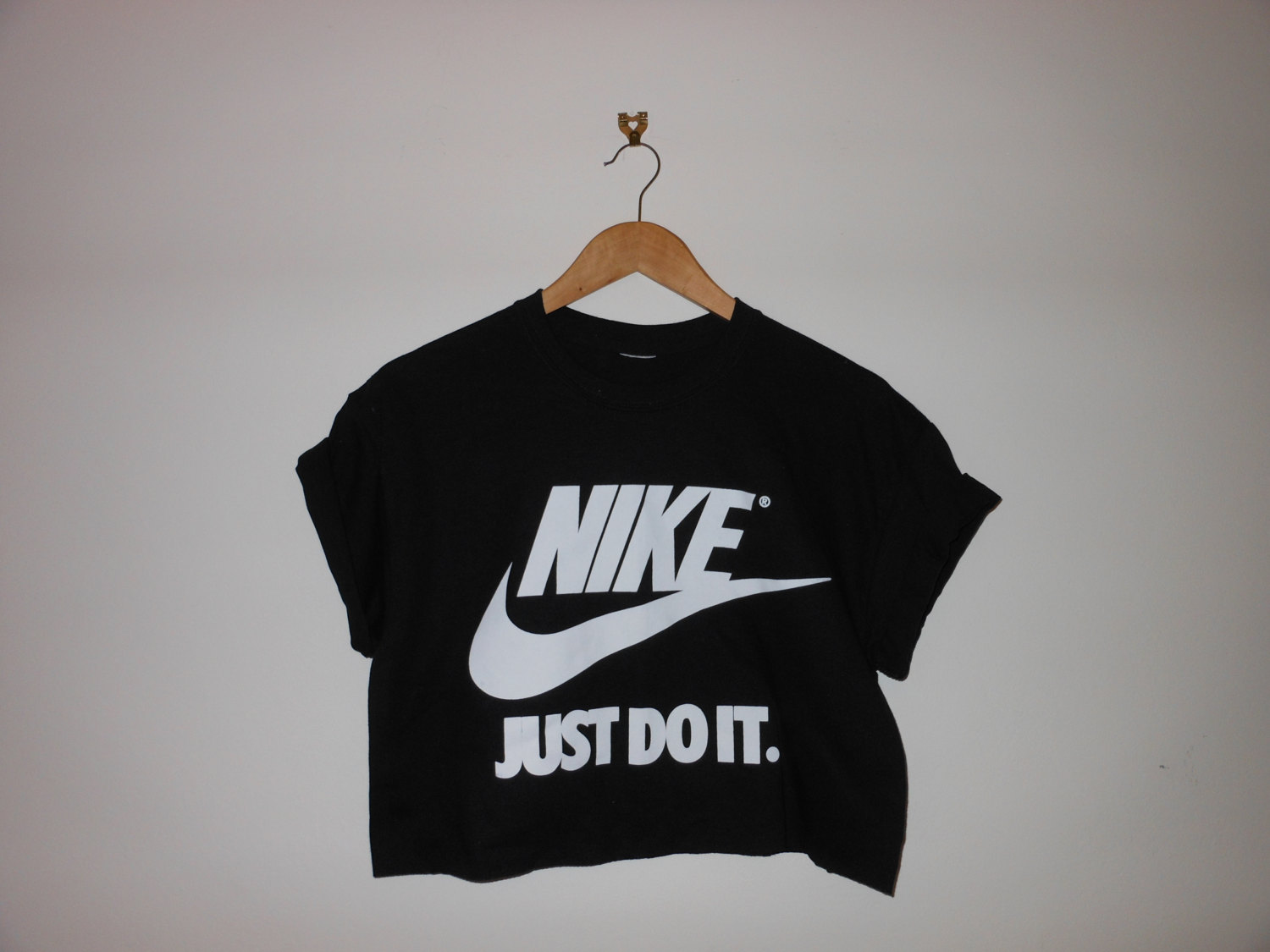 classic nike just do it swag style crop top tshirt fresh boss dope celebrity festival clothing. Black Bedroom Furniture Sets. Home Design Ideas