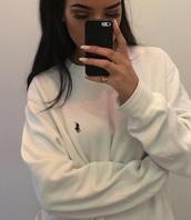 sweater,white sweater,white,sweatshirt