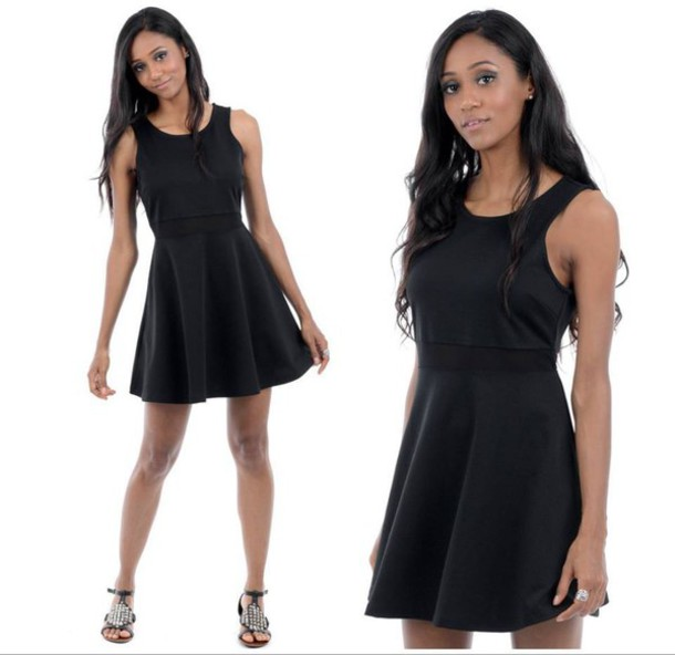 dress black black dress skater dress