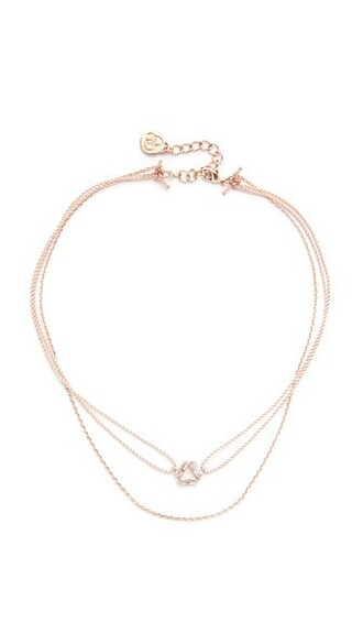 rose gold rose necklace choker necklace gold blush jewels