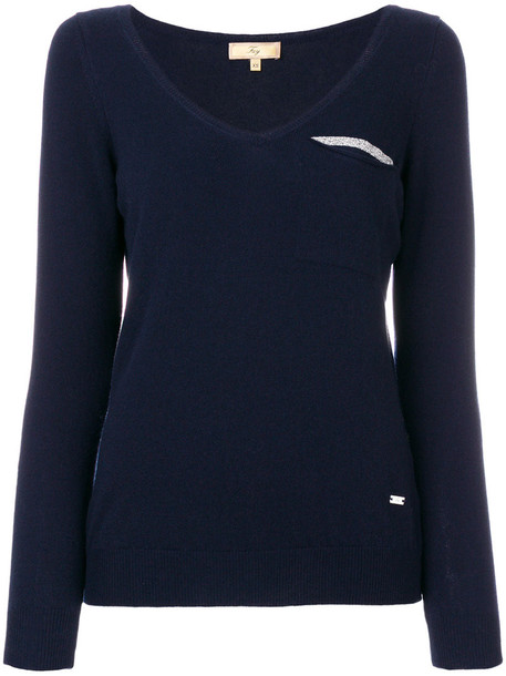 FAY jumper women blue wool sweater