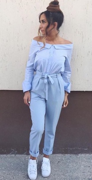 jumpsuit clothes blue jumpsuit