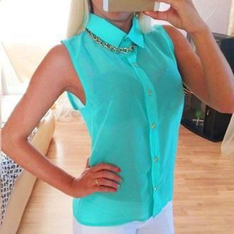 blouse t-shirt summer sleeveless fashion