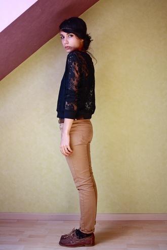 coline lace black shirt