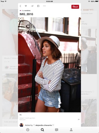 blouse clothes shirt stripes black white long sleeves top