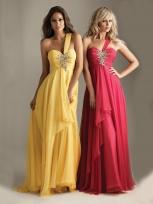 Buy Fashion One-shoulder Empire Waist Beadings Tencel Chiffon Prom Dress under 200-SinoAnt.com
