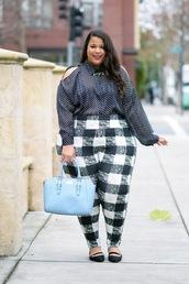 garner style,blogger,top,pants,jacket,shoes,bag,plus size top,curvy,plus size