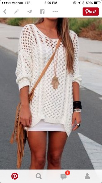 dress white sweater white dress knit