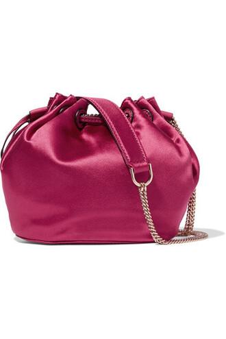 mini love bag bucket bag leather satin