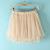Pink Elastic Waist Lace Flare Skirt - Sheinside.com