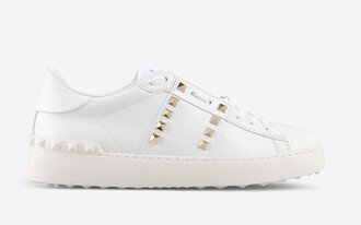 shoes valentino white sneakers studded sneakers white shoes valentino rockstud