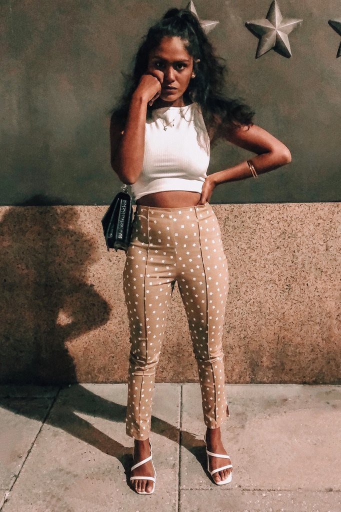 VG Beauty Statement Pants // Taupe