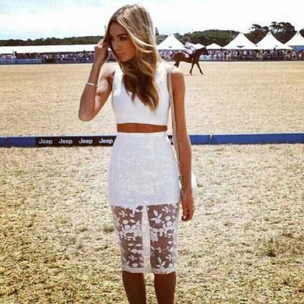 77701443735 bandage dress sexy bandage dress two-piece 2 pieces set hl dress bodycon  dress white