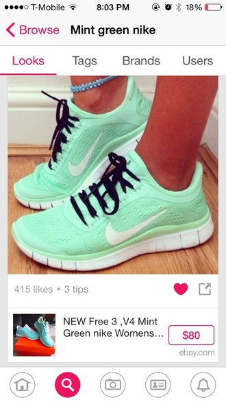 shoes mint nike running shoes