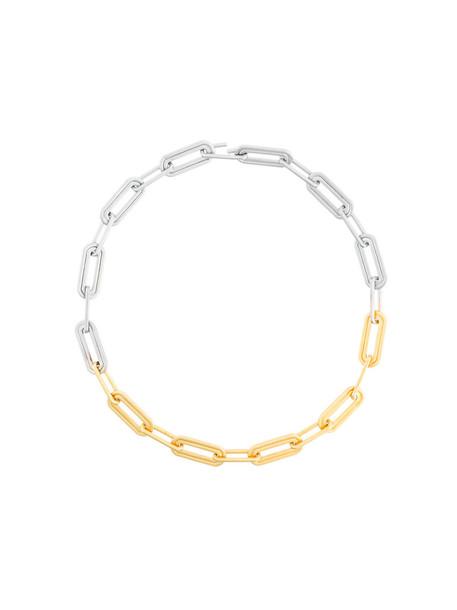 Charlotte Valkeniers women necklace gold silver grey metallic jewels