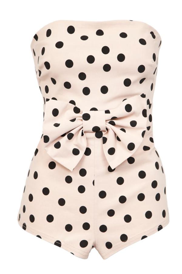 swimwear polka dots retro bandeau