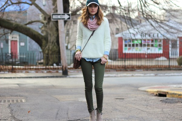 jess style rules sweater scarf jeans shoes