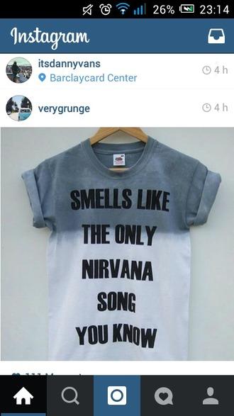 grunge nirvana band merch shirt