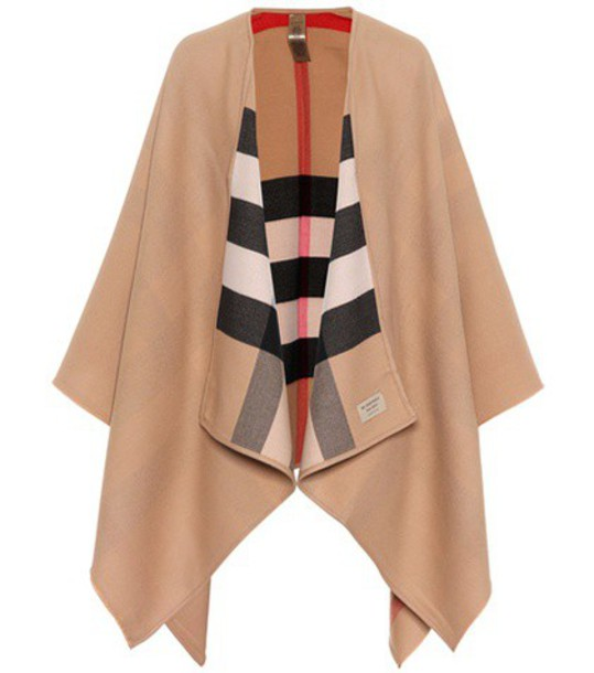 Burberry poncho wool beige top