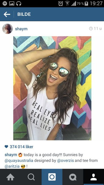 sunglasses shay mitchell sunglasses t-shirt