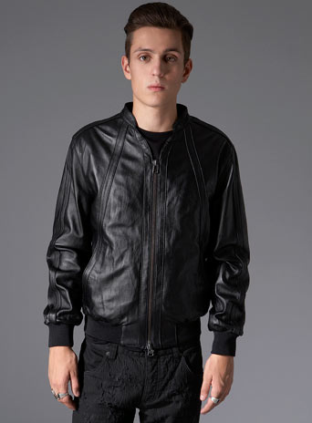 Leather & leather look jackets