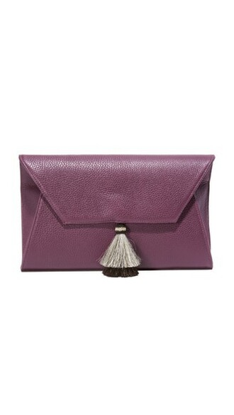 clutch plum bag
