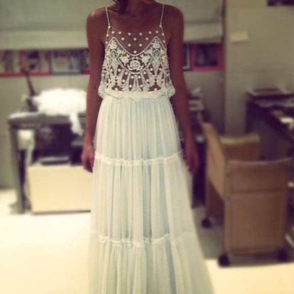 dress white prom mesh floral evening dress long evening dresses long prom dresses long prom dress long white dress long white dresses white dress prom dress lace can find this tanned beach beautiful
