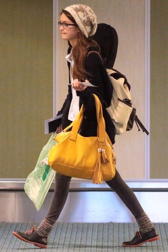 white bag bag backpack white backpack socks gray socks ciara bravo