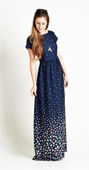dress maxi dress blue bird enjoei