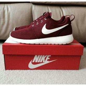 shoes nikes bordeaux red