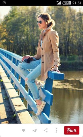 coat trench coat wool coat beige coat