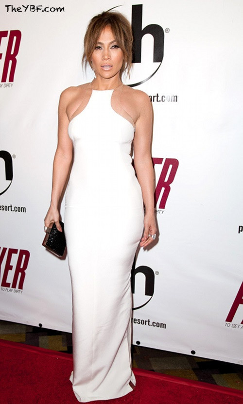 Jennifer lopez white mesh dress long bodycon mermaid celeb celebrity