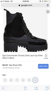 shoes,boots,platform boots,combat boots,lace-up shoes,black boots