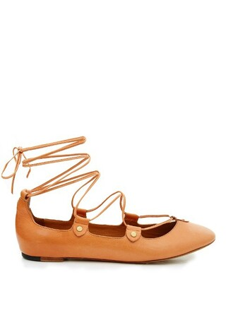 pumps leather tan light shoes