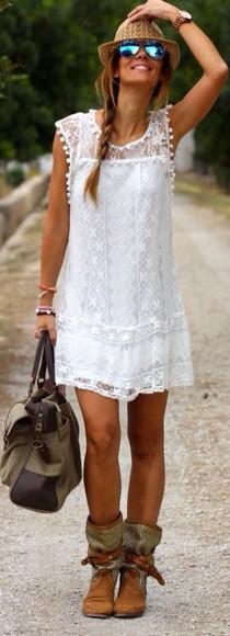 white white dress lace dress summer dress lace