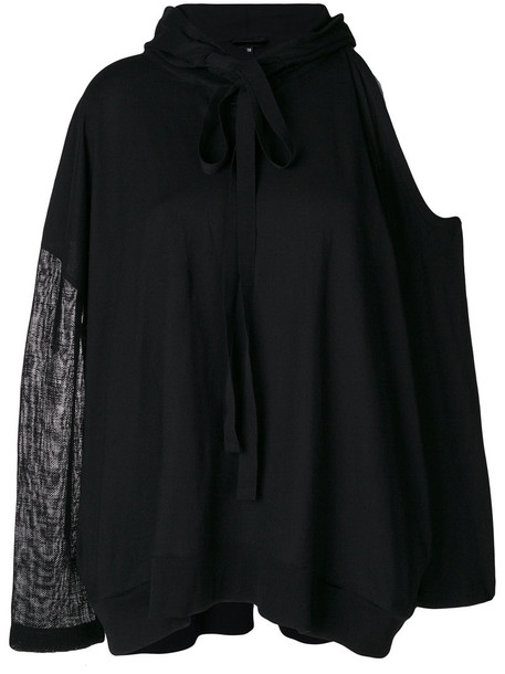 Ann Demeulemeester Blanche hoodie women cold black sweater