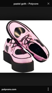shoes,pastel goth,pastel grunge,creepers