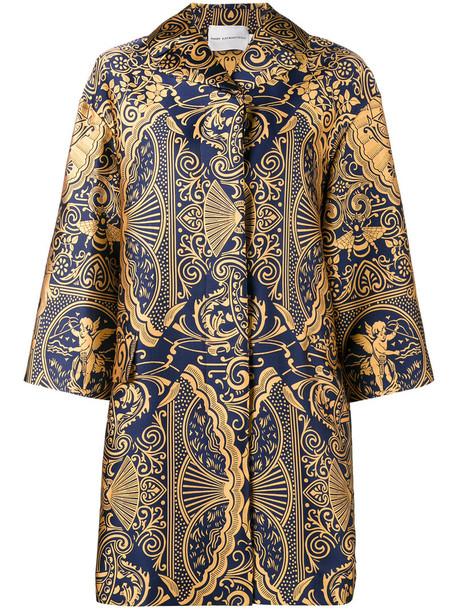 MARY KATRANTZOU jacket oversized jacket oversized women jacquard silk yellow orange