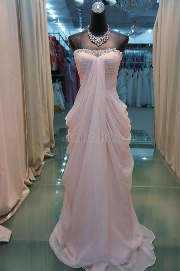 dress clothes beautiful light pink light peach white glitter