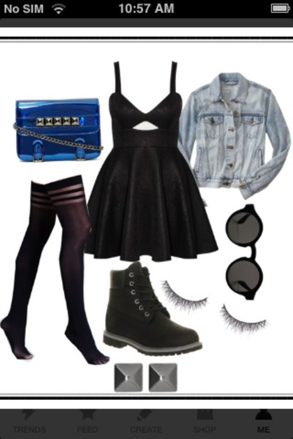 bag grunge blue nastygal pants dress sunglasses shoes