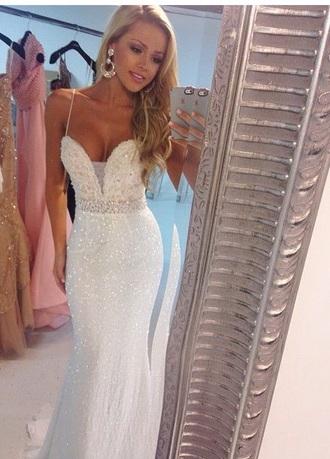 dress prom prom dress prom gown white dress sparkly dress