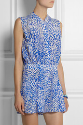 jumpsuit,saloni nelly printed silk playsuit,saloni,nelly printed silk playsuit