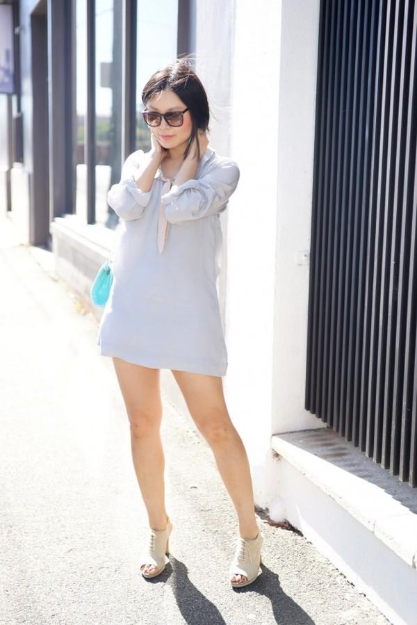 cecylia dress sunglasses jewels bag shoes