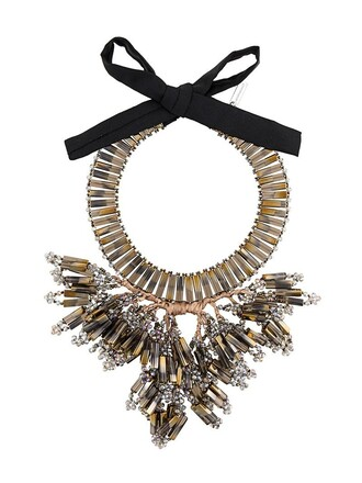 chunky necklace women necklace grey jewels