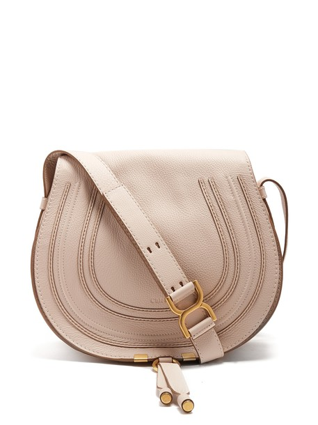 Chloe cross bag leather cream
