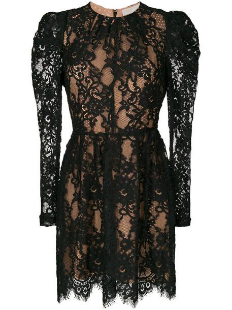 MICHAEL Michael Kors dress lace dress women layered lace cotton black