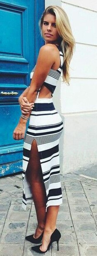 dress striped dress backless dress blue and white stripes black and white black and white dress
