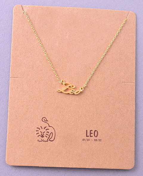 Horoscope zodiac script pendant necklace