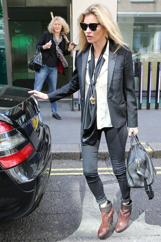 jeans kate moss ankle boots jacket