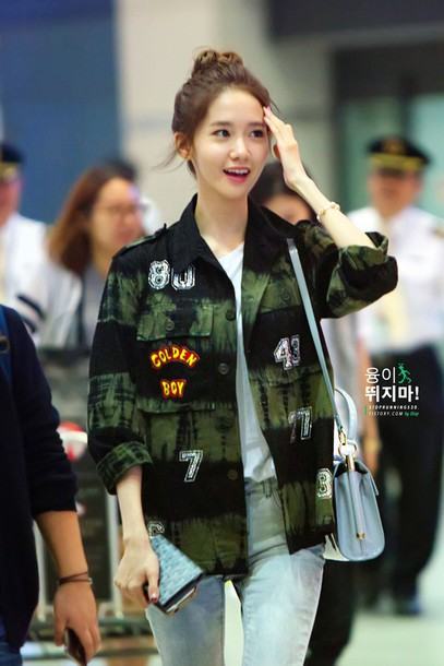 Jacket Snsd Girls Generation Yoona Airport Wheretoget